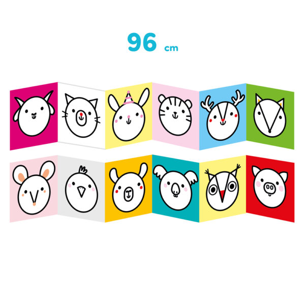 Pierwsze kolorowanki Zwierzęta dla dzieci 18 miesięcy