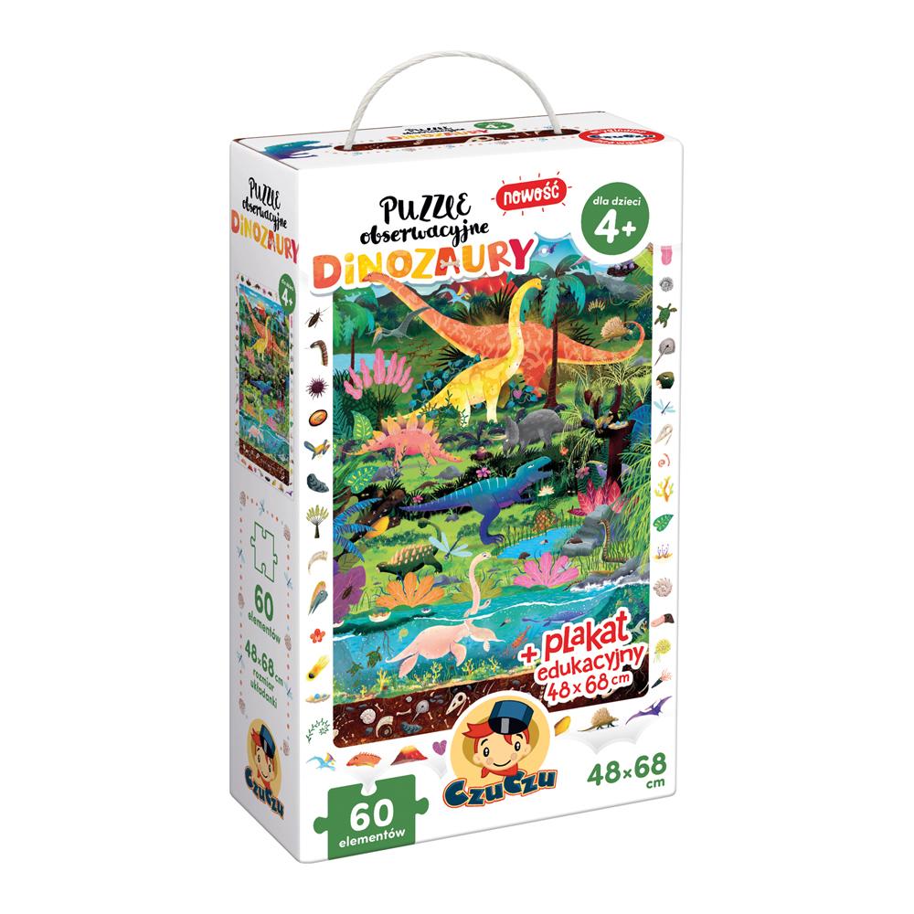 CzuCzu Puzzle obserwacyjne Dinozaury 4+