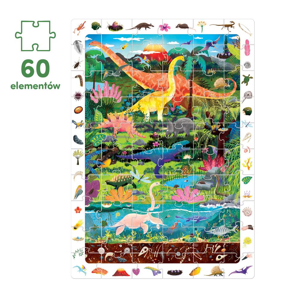 puzzle 60 el dinozaury