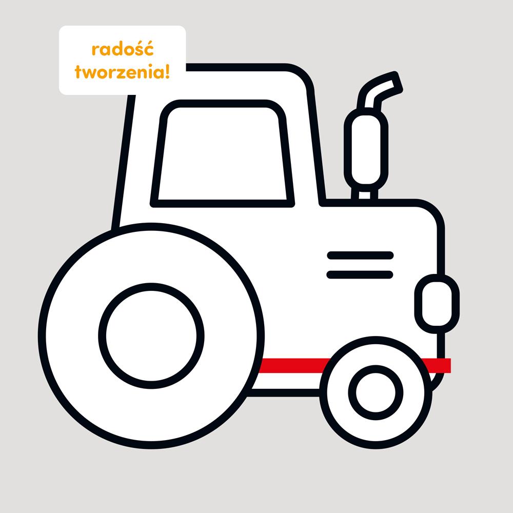 traktor do kolorowania 2+