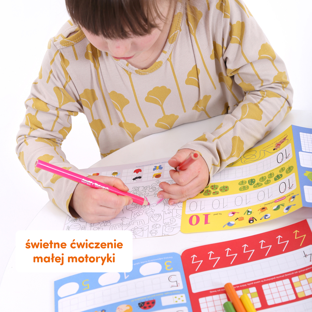 pisanie cyferek dla dzieci
