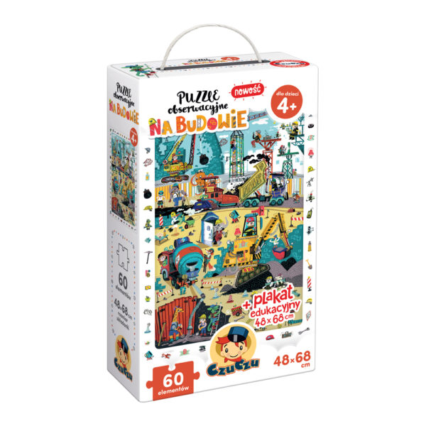 CzuCzu Puzzle obserwacyjne Na budowie dla 4 latka