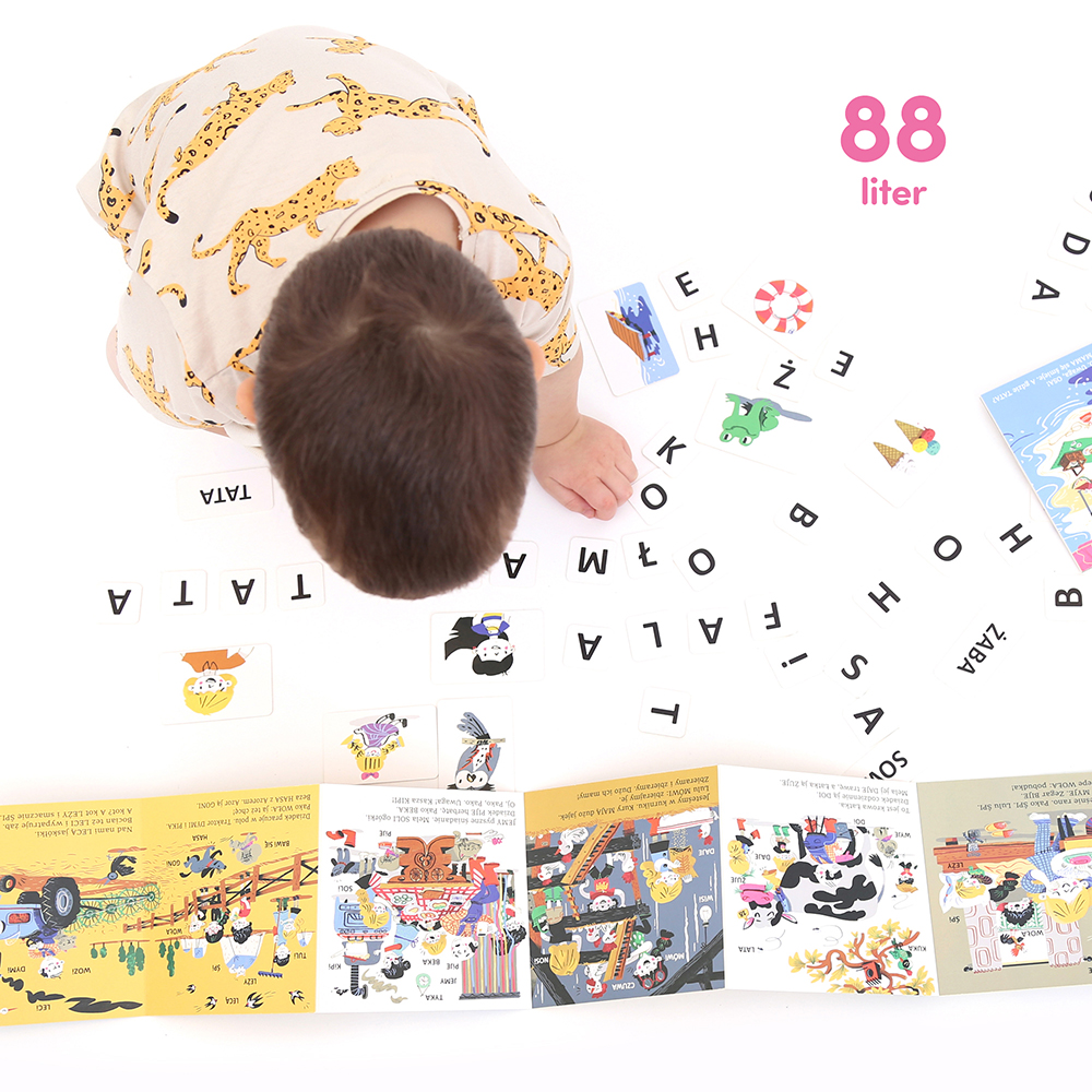 elementy z literami do czytania