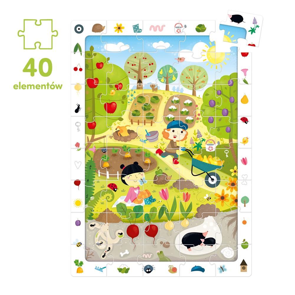 Ogród puzzle obserwacyjne 40 elementów