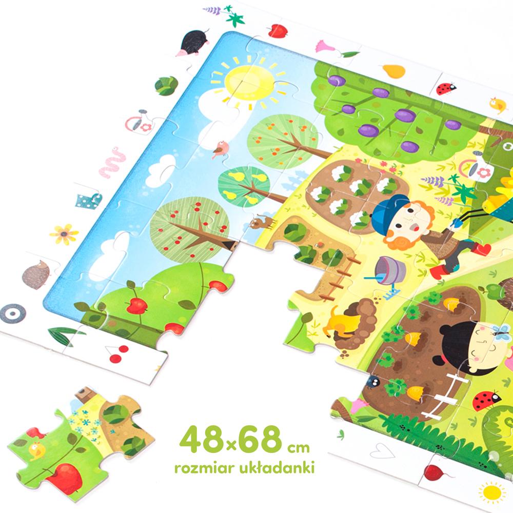 duże puzzle ogród