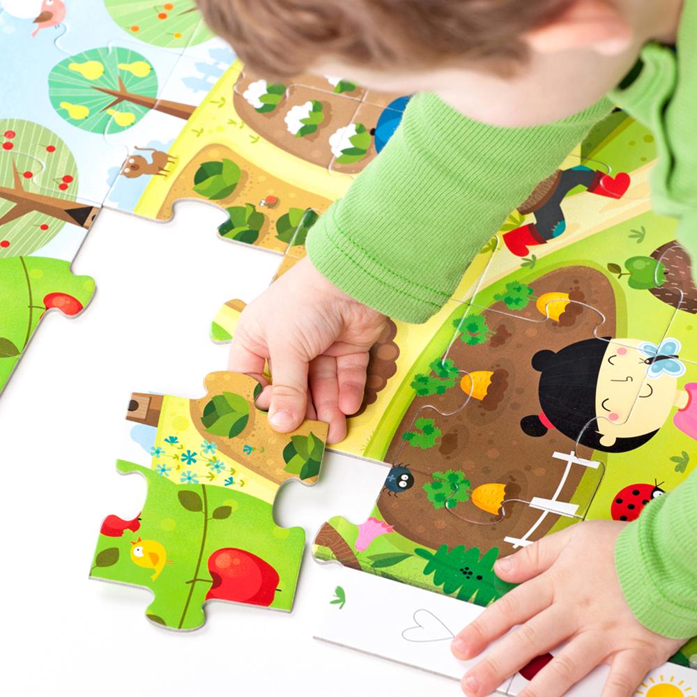 puzzle dla przedszkolaka ogród
