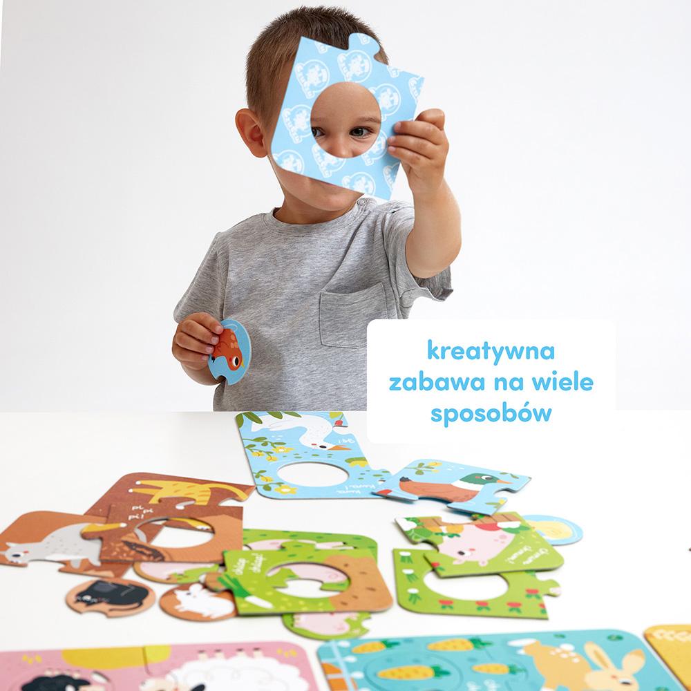 kreatywna zabawa z puzzlami dla dzieci wieś