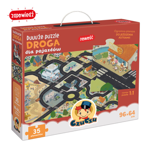 CzuCzu Duże puzzle Droga 35 el