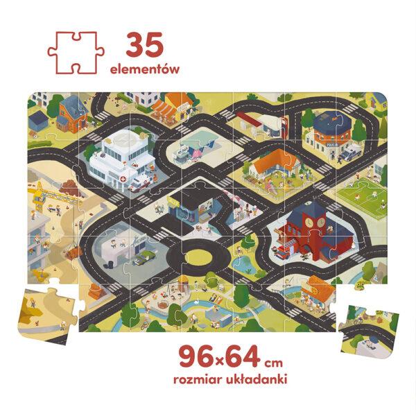 Puzzle droga - plansza dla autek