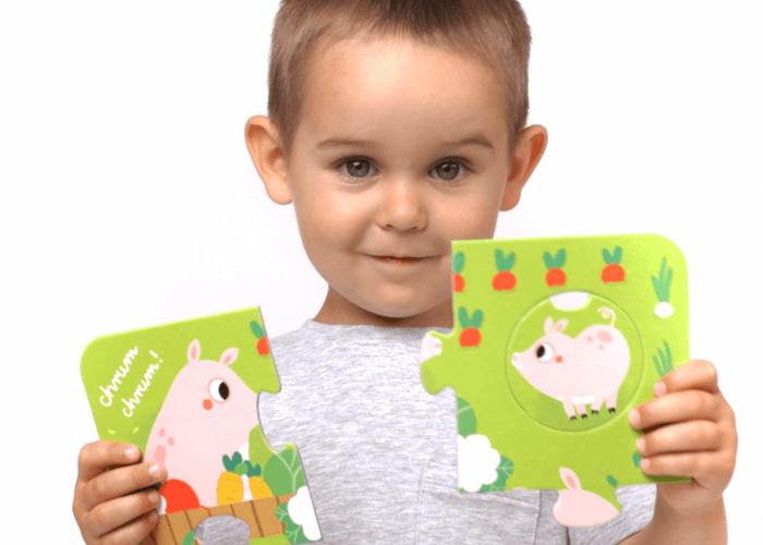 puzzle z dziurką świnka